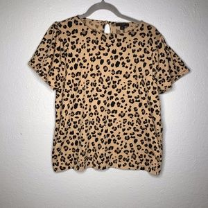 J. Crew Animal Print shirt sz M EUC
